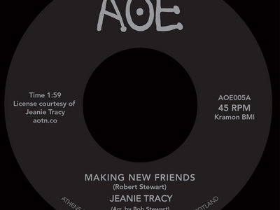 """Jeanie Tracy - Making New Friends / Trippin' On The Sounds (7"""" Vinyl) **SALE** main photo"""