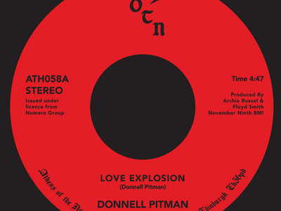 "Donnel Pittman - Love Explosion (7"" Vinyl) main photo"