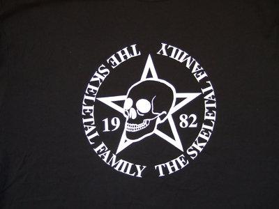 NEW Skeletal Family T Shirt white skull and star logo. main photo