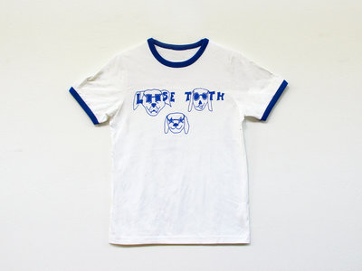 LOOSE TOOTH Dogs Ringer TSHIRT [WHITE/BLUE] main photo
