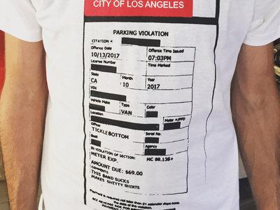 City Of Los Angeles Parking Violation >> La Parking Ticket T Shirt Ramonda Hammer