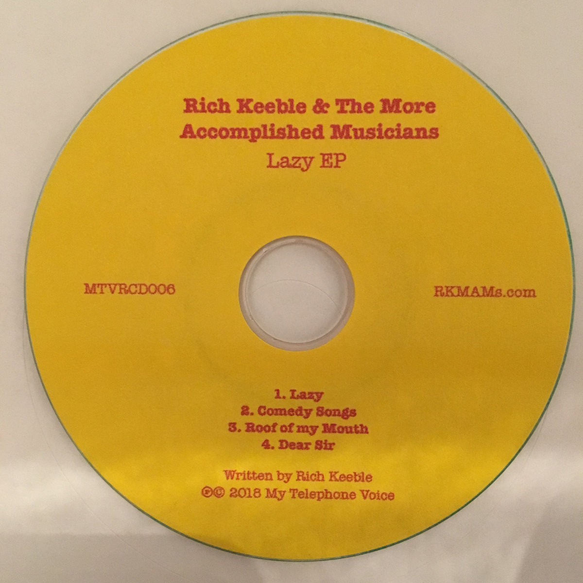 Comedy Songs | Rich Keeble & The More Accomplished Musicians
