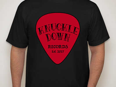 Knuckle Down Records Red Guitar Pick Design T-shirt main photo