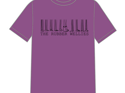 "The Rubber Wellies ""10 Year Tour"" T-Shirt (Aubergine) main photo"