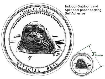 """Sticker: """"Isles of Shoals - Official Seal"""" main photo"""