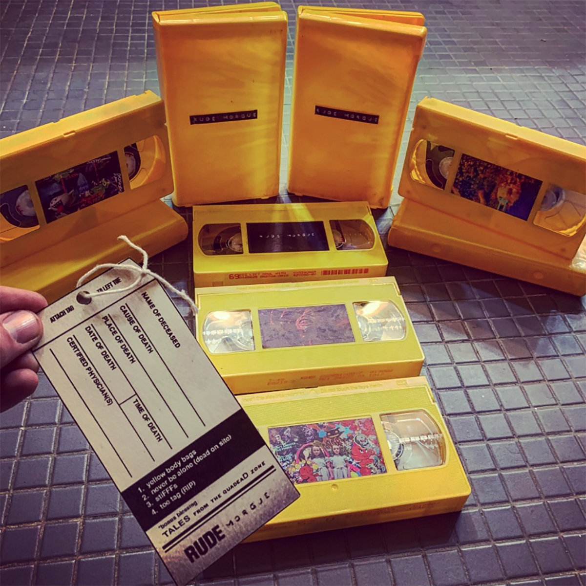 yellow body bags | HAUNTED GAUNTLET