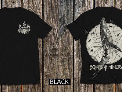 'Whale Vertebrae' T-Shirt BLACK (back and front print) main photo