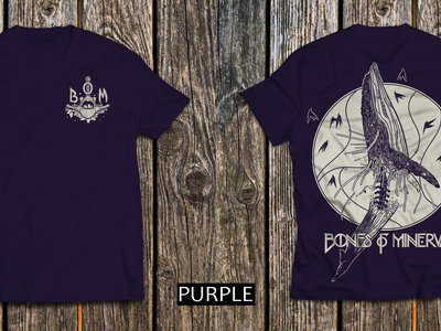 'Whale Vertebrae' T-Shirt PURPLE (back and front print) main photo