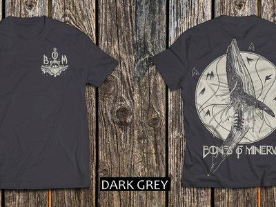 'Whale Vertebrae' T-Shirt DARK GREY (back and front print) main photo