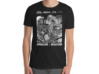 Lethal Aggression / Mental Funeral / BSOM / Vulcan - Annihilation/Devastation T-Shirt main photo