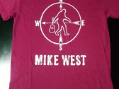 "Mike West ""Too Heavy"" Maroon Red shirt photo"