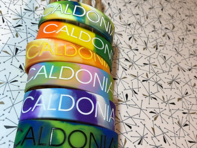 "Caldonia 1"" Embossed Silicone Wristband Bracelets main photo"