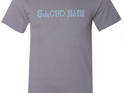 SRM SUPER LIMITED SUMMER T-SHIRT [ SLATE GREY W/ BABY BLUE LOGO ] main photo