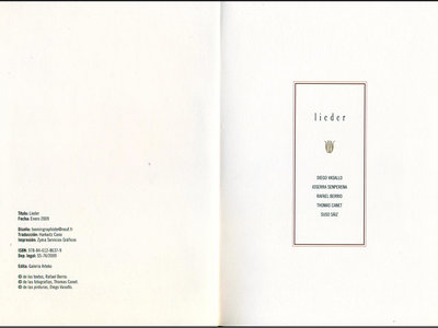 LIEDER (libro disco. 2008) ejemplares últimos de Galería Arteko. main photo