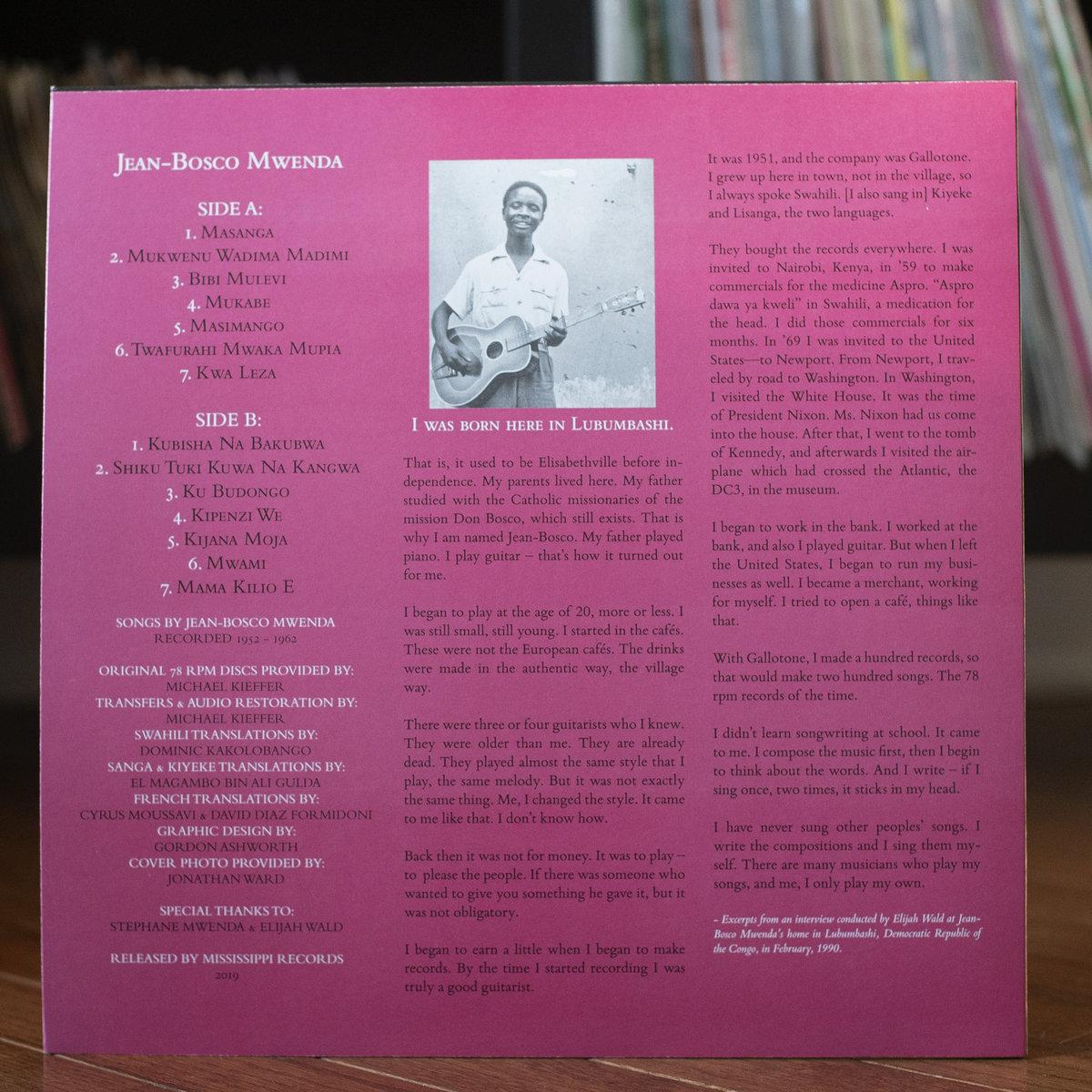 Jean-Bosco Mwenda (1952-1962)   Mississippi Records