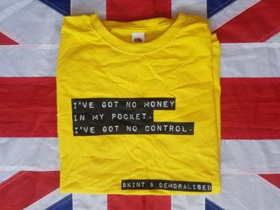 Skint & Demoralised yellow t-shirt main photo
