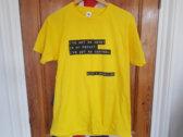 Skint & Demoralised yellow t-shirt photo