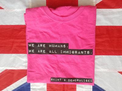 Skint & Demoralised pink t-shirt main photo