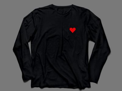 Lone Romantic - Long Sleeve T-Shirt (Black) main photo