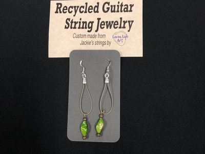 One of a kind guitar string earrings main photo