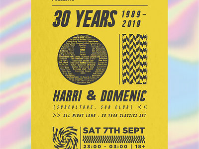 Highland Club Culture | 30 Years - A2 Poster main photo