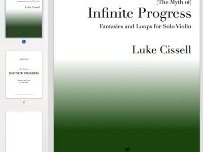 Sheet music: Infinite Progress for solo violin main photo