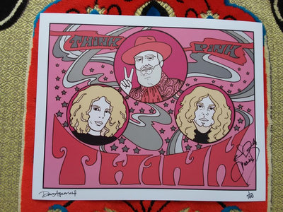 Ltd 8 x 10 Think Pink print. Signed by Dawn Aquarius & Twink, numbered out of 100. main photo