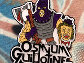 Osmium Guillotine - Gil O'tine Enamel Pin Badge photo
