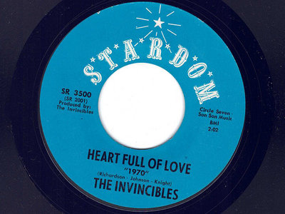 HEART FULL OF LOVE - THE INVINCIBLES - NM main photo