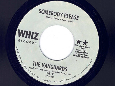 SOMEBODY PLEASE - THE VANGUARDS - NM main photo