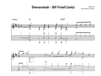 Shenandoah - Bill Frisell (revised transcription) main photo