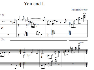 You and I - Piano Sheet Music & Audio main photo
