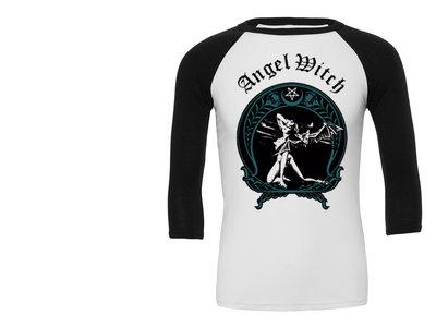 """White Witch"" 3/4 length sleeve baseball shirt main photo"