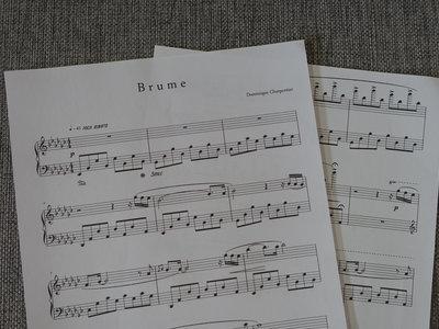 """""""Brume"""" Piano Sheet main photo"""