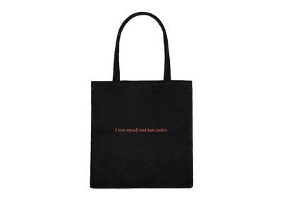 I love myself and hate police Tote Bag main photo
