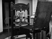 """""""IL CICLO DEL VUOTO"""" T SHIRT (Handprinted with a 1848 press) photo"""