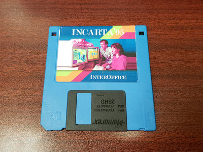 "Incarta'95 - INTEROFFICE 3.5"" Floppy Disk main photo"