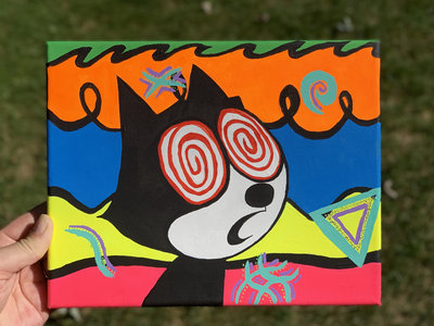 10 x 8 Hand Painted Canvas - Felix the Cat main photo