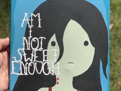 10 x 8 Hand Painted Canvas - Self Portrait//Marceline the Vampire Queen main photo