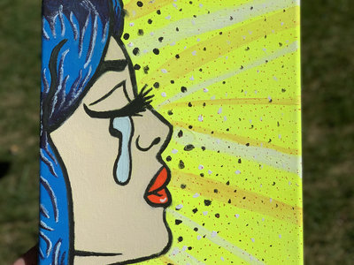 10 x 8 Hand Painted Canvas - Pity Party Pop Art main photo