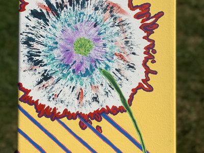 10 x 8 Hand Painted Canvas - Dandelion Pop Art main photo