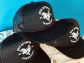 Sawdusters Rooster Black Trucker hats photo