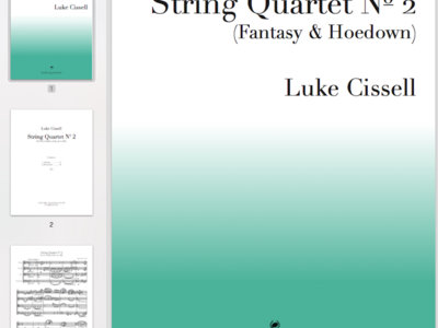 Sheet music: String Quartet No 2 (full score + parts) main photo