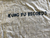 Blue Kung Fu Records Ringer T-shirt photo