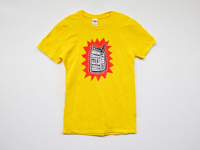 MILK! RECORDS Make Mine A Triple - Steph Hughes [ARTIST SERIES] T-SHIRT [YELLOW] main photo