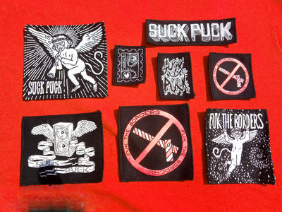 Screen-printed DIY textile patches. main photo