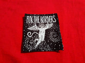 Screen-printed DIY textile patches. photo