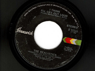 I THINK ILL CRY OUT LOUD - THE REALISTICS - VG+ main photo