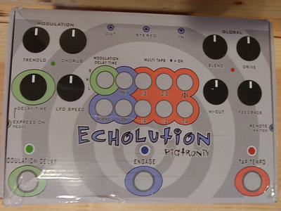 Beautiful (Like New) Pigtronix Echolution Effects Unit + Echoes In Space 4.2 GB Sound Library main photo