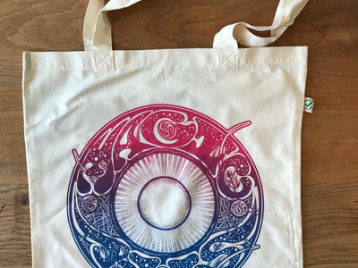 Organic Cotton Tote Bag with Magic Bus emblem main photo